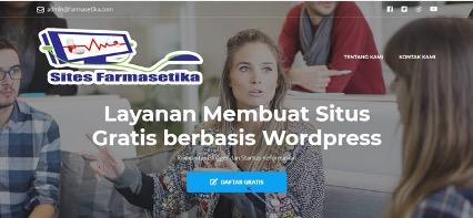 Cara Membuat Situs Gratis Berbasis WordPress di Farmasetika.com